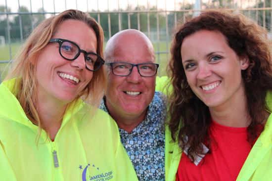 Gastom met Anne Claire en Evenlien van SamenLoop voor Hoop Hillegom