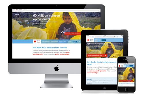 Rode Kruis responsive website